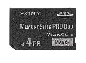Sony MSMT4G/T1 Carte mémoire Memory Stick Duo Pro 4 Go