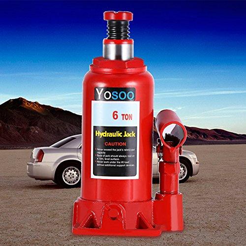 Cric idraulico a bottiglia a olio, molla per il sollevamento di auto e moto, 2T/ 3T/ 5T/ 6T/ 8T, 6T, 50