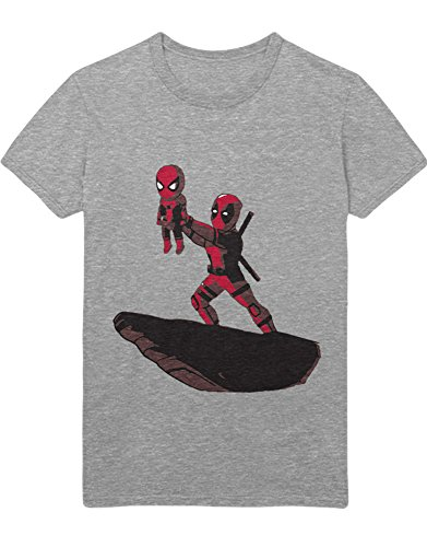 T-Shirt Superheroes Wade Wilson Lion Parody C138915 Grau S (Disney Nala Kostüm)