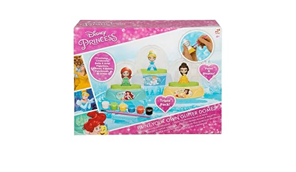 Disney New Paint Your Own Princess Glitter Domes For Kids