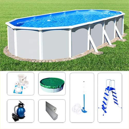 Poolzon Schwimmbad Ovalpoolset Starzon 7,20 x 3,60 x 1,20m, Komplettset