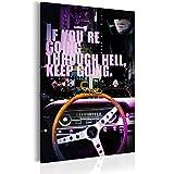 RIESEN-FORMAT Bilder 80x120 cm - XXL Format - Fertig Aufgespannt – TOP - Vlies Leinwand - 1 Teilig - Wand Bild - Kunstdruck - Wandbild - Poster Poster Film Drive m-A-0589-b-a 80x120 cm