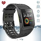 iKeeGan GPS Laufuhr Fitness Armband mit 23 Sportmodi und Herzfrequenzmonitor