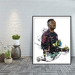 Rjjwai Steve Mandanda Art Moderne Art Décor À La Maison Décor À La Maison Affiches Et Tirages Olympique De Marseille Mur Art Toile Peinture Accueil Décor 40x60cm