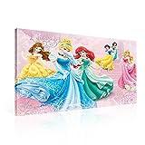 Disney Prinzessinnen Cinderella Arielle Leinwand Bilder (PPD1467O1FW) - Wallsticker Warehouse - Size O1 - 100cm x 75cm - 230g/m2 Canvas - 1 Piece