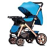 Pushchairs Kinderwagen Kombikinderwagen Buggy Tragfähigkeit 25kg All Seasons Be Gebraucht Faltbares Leichtgewicht Kann Sich Allrads Hinlegen,Blue-platearmrest