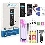 Xlhama Batterie Haute Capacité Compatible pour iPhone 5S/5C 1700mAh avec Kits...
