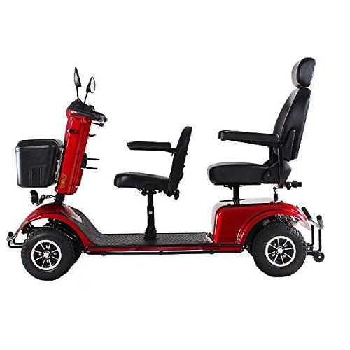 """Alpenmobil \""""Tandem\"""" elektrisches altersgerechtes Invalidenfahrzeug für 2 Personen / Behindertenfahrzeug für Senioren oder Personen mit einer Gehbehinderung 2-Sitzer"""
