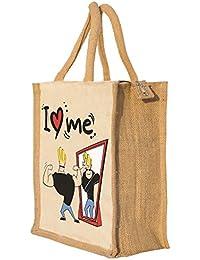 Nisol I Love Me Johny Bravo Classic Printed Lunch Bag | Tote | Hand Bag | Travel Bag | Gift Bag | Jute Bag