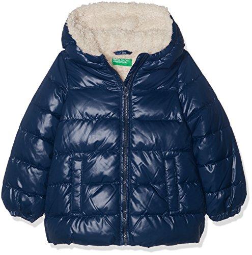 United Colors of Benetton Jacket, Chaqueta para Niñas, Azul (Navy 13c), 152 (Talla del Fabricante: EL)