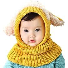 Invierno del bebé Niños Chicas Chicos Tejido Gorro Punto Caliente Lana  Cofia Capucha Bufanda Caps Sombreros 700851ab968