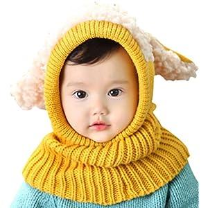 Bufandas del Bebé, Bebé Unisex-caliente Cachorro Puppy Bufanda Mantón Bebé Infantil Smart Hat 9