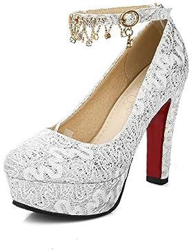 HUA&X Le donne del blocco tacchi alti bocca poco profonda Party Night Club corte di nozze piattaforma pompe scarpe