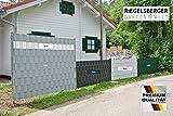 10 Stück, RAL 7040 Fenstergrau PREMIUM Sichtschutzstreifen, Maße: 2550x190x1,55 mm, 6,99 /Stk., Sichtschutz Windschutz Zaunblende Hart PVC Streifen zum Einflechten Kunststoff Doppelstabmatten Zaun Zäune Stahlgitterzäune Sichtschutz Streifen MADE IN GERMANY von Gartenwelt Riegelsberger
