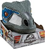 Jurassic World- Chomp'N Roar Masque électronique du Velociraptor Blue, FMB74, Bleu, Taille Unique