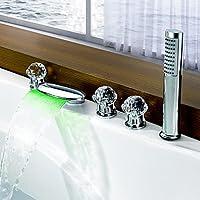 BASCJ ottonerubinetto del bagno,Vasca romana contemporanea LED / cascata /