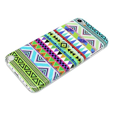 deinPhone Apple iPod Touch 5 5G HARDCASE Hülle Case Zick Zack Muster Grün