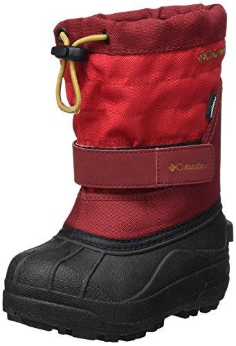 Columbia, Mädchen Stiefel (Columbia Unisex-Kinder Childrens Powderbug Plus Ii Schneestiefel, Rot (Mountain Red/Maple), 29 EU)