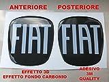 Bravo Carbonio Kit autocollants avec logo Fiat Bravo avant + arrière, en résine effet 3D, qualité 3M, à partir de 2007, pourcapot, coffre