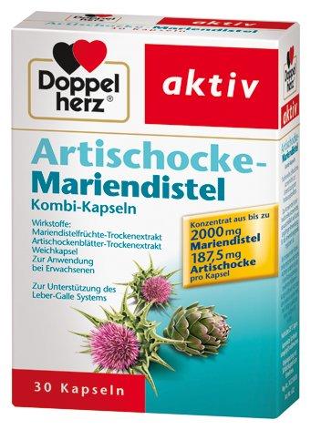 Doppelherz Artischocke Mariendistel, 3er Pack (3 x 30 Kapseln)