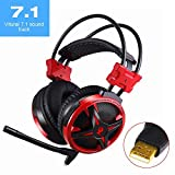 AUSDOM Hi-Fi Kopfhörer Ohrhörer Headset Headphone Over-Ear Mit USB-Stecker - 7,1 Surround Sound Stereo - Lautstärkeregler - Bass Vibration - für PC-Gaming, Laptop, PS4