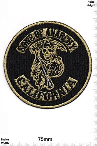 Patches - Sons of Anarchy - California - MusicPatches - Rock - Vest - Iron on Patch - Applique embroidery Écusson brodé Costume Cadeau- Give Away