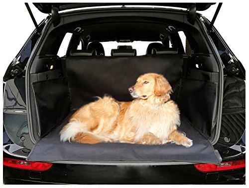 autooptimierer.de Universal Kofferraumschutz Hund Wasserdicht Schwarz mit Seitenschutz Hundedecke Auto Kofferraum Kofferraumschutzdecke