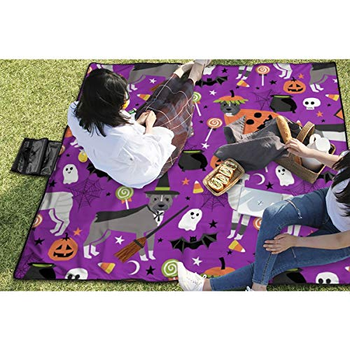 ll Halloween Costume Dog Vampire Ghost Mummy Purple Waterproof Extra Large Outdoor Mat Camping Or Travel Easy Carry Compact 59
