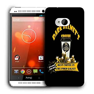 Snoogg Dark Helmets Coffee Designer Protective Back Case Cover For HTC ONE M7