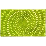 SCHÖNER WOHNEN-KOLLEKTION 1900060002030 Badematte Mauritius, 60 x 100 cm, Öko-Tex 100 zertifiziert, Kreise grün
