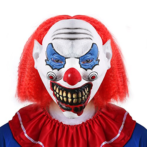 Halloween Latex Clown Maske für Erwachsene Kostüm (Clown Maske Latex)