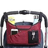 Best Baby Jogger Passeggino Universale Organizzatore Borsa con porta bottiglia, spazio aggiuntivo per Organizzare il bambino accessori (Rosso)