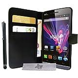 Luxus Schutzhülle Stand mit Brieftasche Wiko Wax +