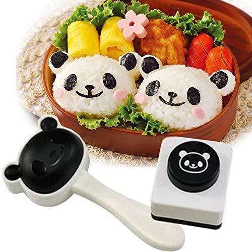 Características Herramientas 4 en 1 Bento accesorios hacen que su almuerzo cena más encantadora Kawaii Panda Bento Shapper, cortador de nori, la placa de silicona para simplemente bonito Usa estas bonitas herramientas de bento para tus tipos de almue...
