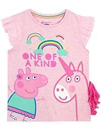 Peppa Pig Girls Peppa & Unicorn T-Shirt Ages 12 Months To 8 Years