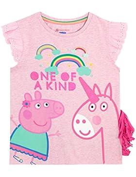Peppa Wutz Mädchen Peppa Pig und Einhorn T-Shirt
