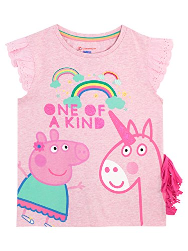 Peppa Pig Girls Unicorn T-Shirt Ages 12 Months to 8 Years