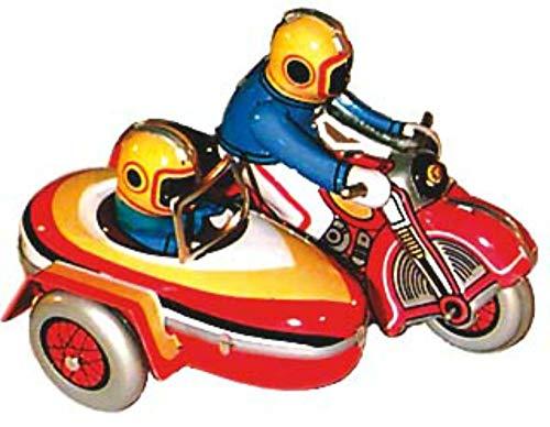 CAPRILO Juguete Infantil Decorativo de Hojalata Moto Sidecar. Vehículos a Escala. Juguetes...