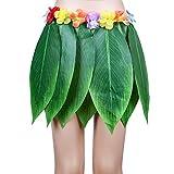 f46c4c02d Disfraz de hula hawaiana para mujer con hojas de plátano y hierba