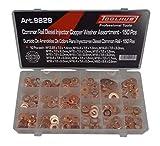 Tool Hub 9829 Diesel Injektor Unterlegscheibe Sortiment Set 150 Stück Kupfer Dichtungen Common Rail