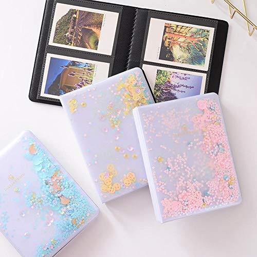 Momyeah AlbumPVC Quicksand Sequin Foto Mini Buchalbum für Instant Polaroid Mini Film Polaroid Fotoalbum Geschenk für die Familie, Pink 1 (Polaroid Disney-film Für)