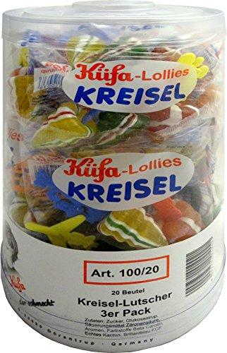 Küfa Kreisel-Lutscher 3er Pack, 1er Pack (1 x 20 Stück)