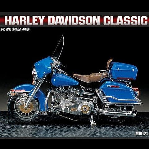 Academy AC15501 - 1/10 Klassischer Motorrad (Bausatz Harley Davidson)