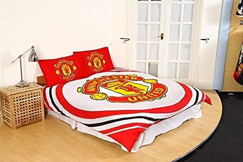 Offizielles Manchester United Fußball Steppdecke Man Utd Bett Set Single Double MUFC, Bedding - Pulse Duvet, (Manchester Zu Weihnachten)
