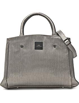MIYA BLOOM, Damen Handtaschen, Henkeltaschen, Umhängetaschen, Crossover-Bags, Grau Metallic, 24 x 20,5 x 10 cm...