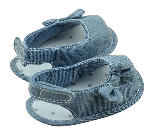 DEHANG Sommer Babyschuhe Jeanstoff Baby Sandale Lauflernschuhe 11cm Blau#2