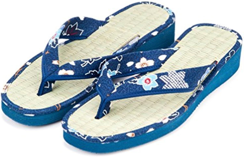homme / femme de bleu floral prix japonais moderne moderne moderne et de style tatami sandales folle façon de bonne qualité deedcd