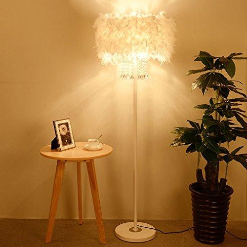 The harvest season- Kristall Feder Stehlampe Nacht Einfaches Modernes Wohnzimmer Schlafzimmer Vertikale Tischleuchte A+ -