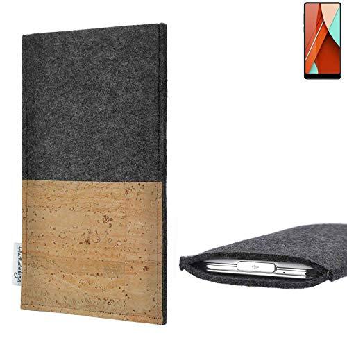 flat.design vegane Handy Hülle Evora für Bluboo D5 Pro Kartenfach Kork Schutz Tasche handgemacht fair vegan
