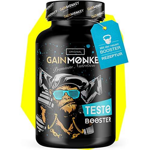 **Neu** Original GAINMONKEY® TESTO BOOSTER Extrem   60 Kapseln hochdosiert mit Tribulus Terrestris und Maca   Neutrale Verpackung! -